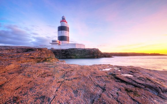 Unique New Year Sunrise at World's Oldest Working Lighthouse