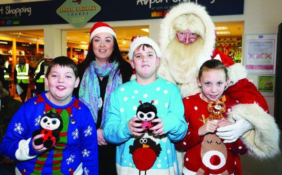 BMI Host Santa Flight from City of Derry Airport