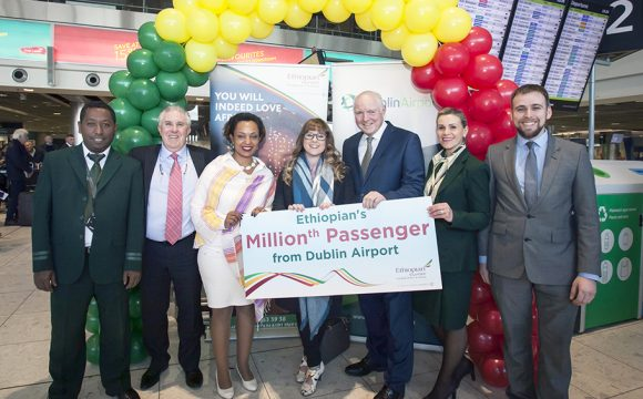 Passenger Numbers Up as Ethiopian Celebrate One Million Passengers from Dublin