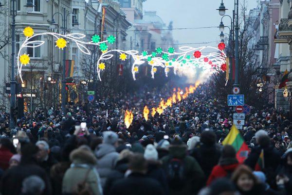 Vilnius Celebrates with Spectacular Celebration