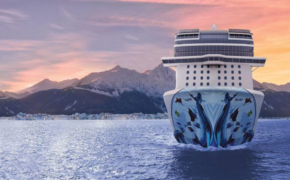 Norwegian Bliss in Final Phase of Construction After Float Out