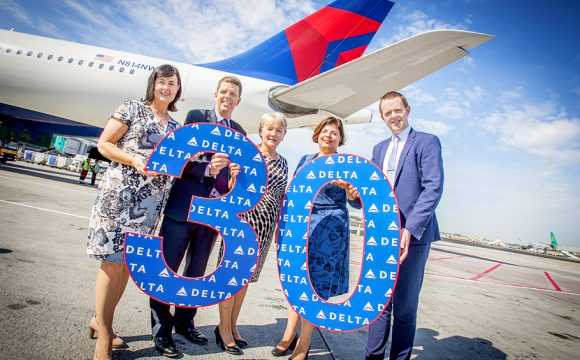 Delta Marks 30 Years of Flying to Dublin
