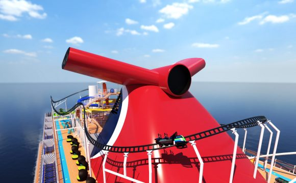 Mardi Gras Features First Ever Roller Coaster at Sea