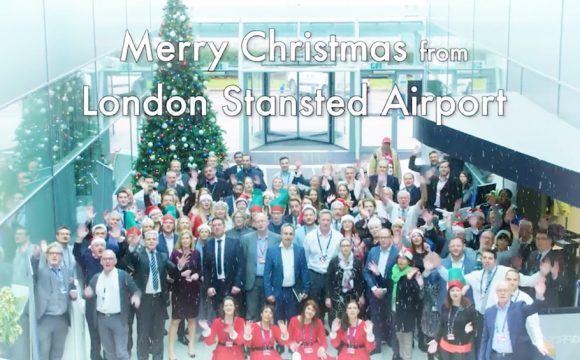 London Stansted Airport Staff Make a Song and Dance about Christmas