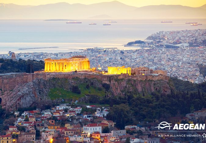 Win Two Return Flights to Athens with AEGEAN
