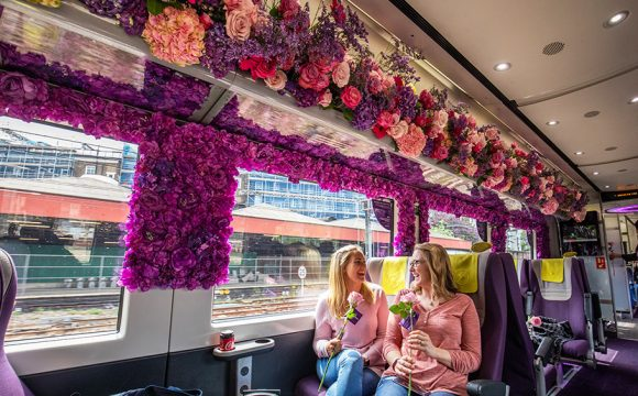 Passengers Greeted with Stunning Chelsea Flower Show Display – On a Train