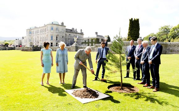 The Prince of Wales and The Duchess of Cornwall visit Powerscourt Estate