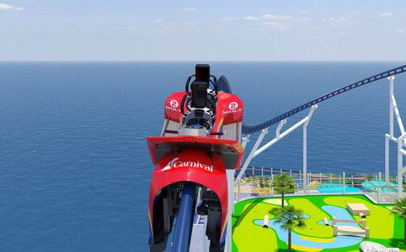 Carnival Cruise Line Unveils First Roller Coaster at sea on Mardi Gras
