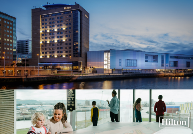 Win an Overnight Family Stay at Hilton Belfast with Breakfast and Family Ticket to Titanic Belfast