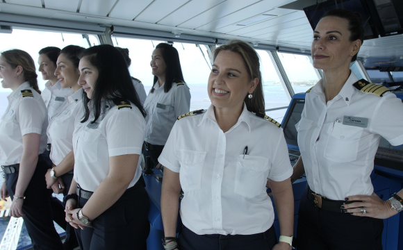 Celebrity Cruses' History-Making All-Female Bridge and Leadership Team Reunite