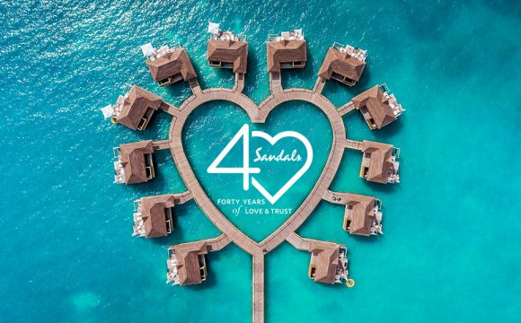 Sandals Resorts Launches New Travel Agent Incentive to Mark 40th Anniversary Celebrations
